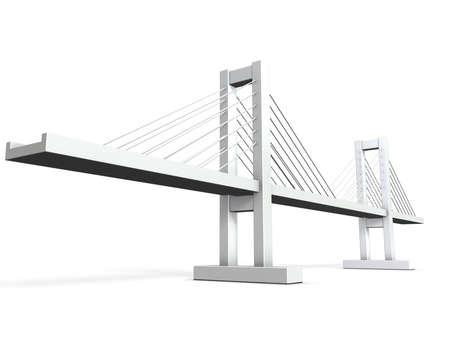 斜張橋の建築モデル 写真素材 - 14716592