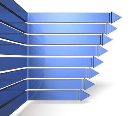 여덟 화살표는 내용의 아름다운 파란색 테이블에 있습니다 스톡 콘텐츠