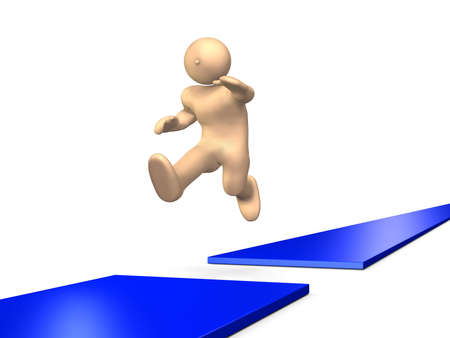momentum: He boldly jumped over the risk.