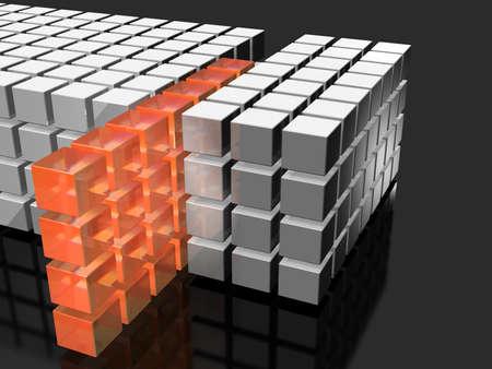 抽象的なサンプリングを表すイメージを表示 写真素材