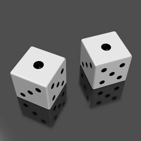 11 number: Rendered image of the two dice