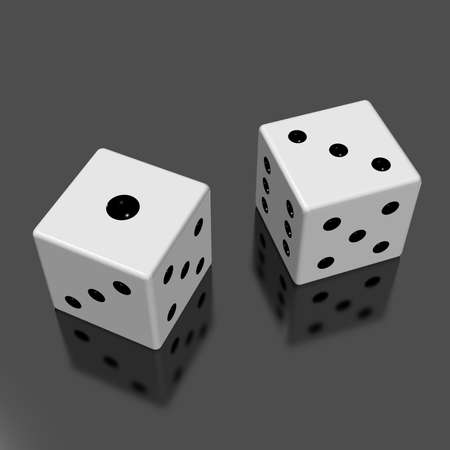 Rendered image of the two dice photo