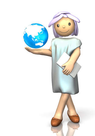 She preaches the precious nature of the earth. Stock Photo - 15136214