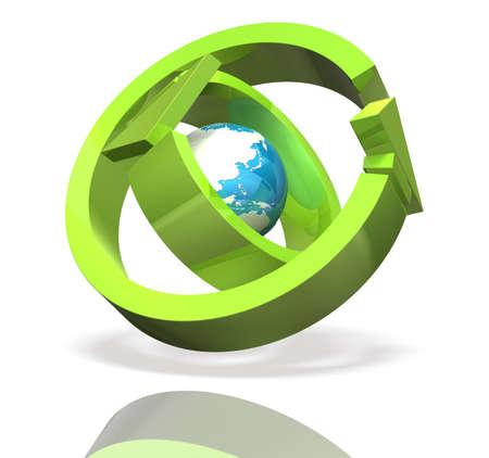 Atmospheric circulation to turn around the global environment photo