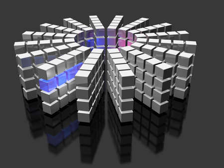 マルチ スレッドのスーパー コンピューター 写真素材