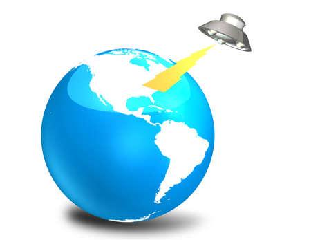 invasion: UFO invasion  Stock Photo
