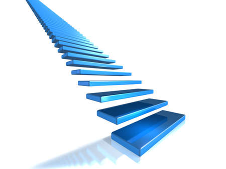 Long flight of stairs that leads to glory Stock Photo