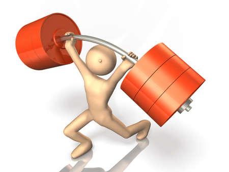 hombre fuerte: El hombre fuerte ha levantamiento de pesas. Foto de archivo