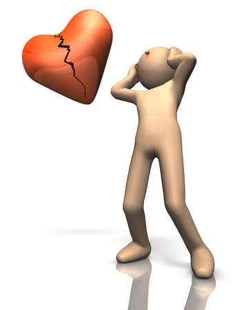 People who suffer from a broken heart Stock Photo - 16189406