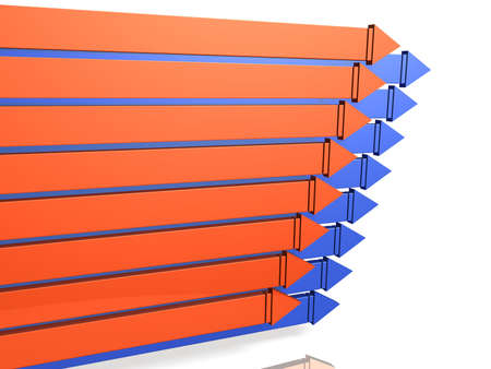 Eight arrows arranged orderly