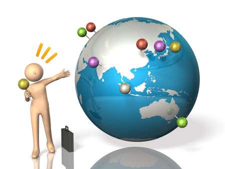 Overseas business trip Stockfoto