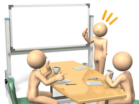 Businessmen are eager to brainstorm ideas