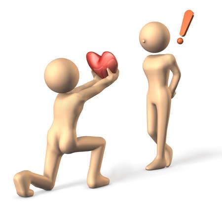 love confession: His sudden confession, she was surprised.