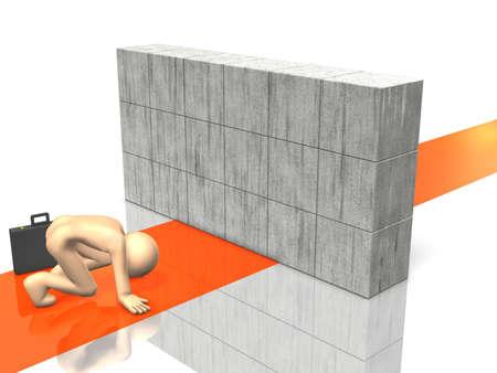 Businessman that felt great discouragement Stock Photo - 17677914