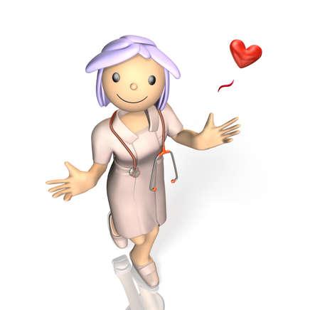 gentleness: Cute nurse is smiling