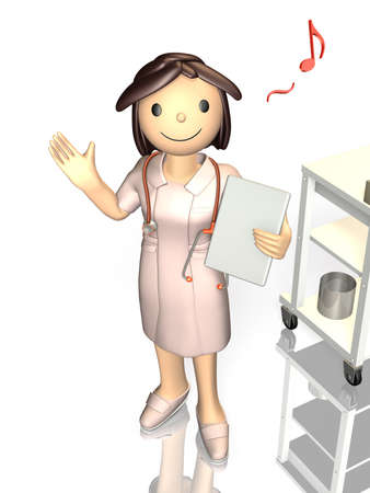 gentleness: Kind nurse is smiling  Stock Photo