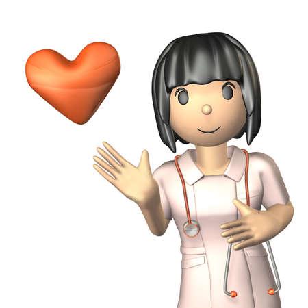 gentleness: Portrait of a kind nurse