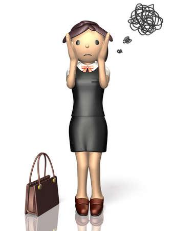 She has worries. Stock Photo - 19306625