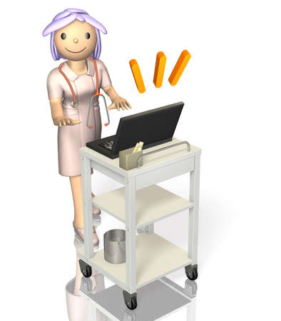 rendered image depicting a kind nurse  photo