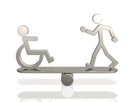 Equal rights of people with disabilities and able bodied person.