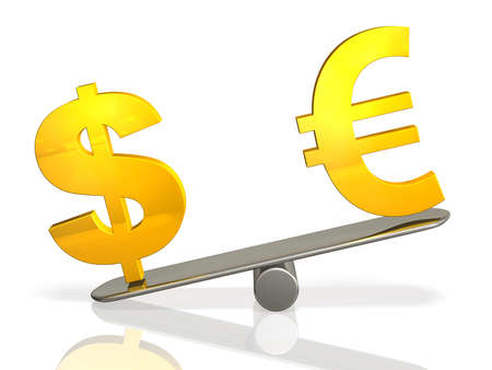 represents: 3DCG abstract illustration that represents the exchange rate Stock Photo