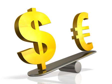 Abstracte illustratie dat de wisselkoers vertegenwoordigt
