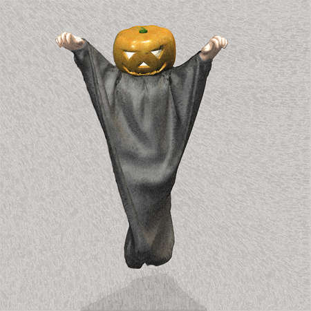 prank: I have a prank in costume for Halloween  Stock Photo