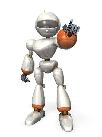 ロボットが強い希望を表明している何かを指しています。