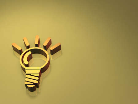 Light bulbs light up  Symbol of good ideas, on a gray  photo