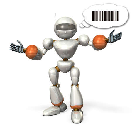 Robot opens its arms  It is representing the communication  photo