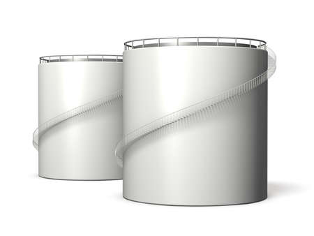 Miniature model of oil tank ,isolated, computer generated image,