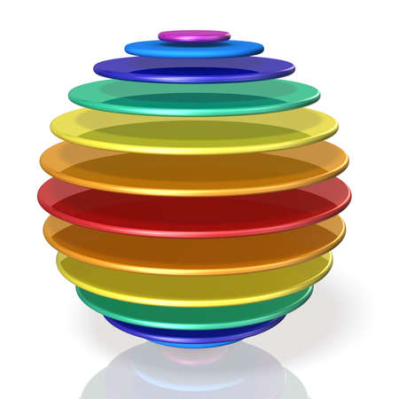 Stacked paten became spherical