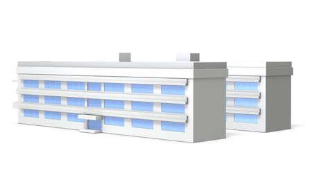 dormitories: Miniature model of school