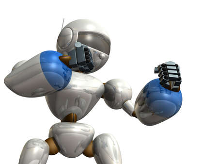 enemy: Robot is trying to challenge the enemy
