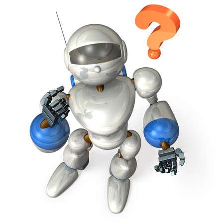 ロボットは質問に困惑します。