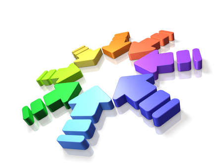 Many arrows are terminated towards the center