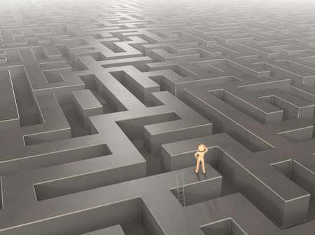 Labyrinth continues to far away 版權商用圖片