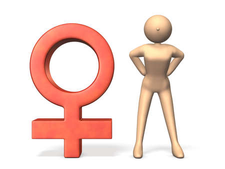 A strong woman  Symbol representing the women