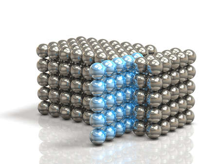 Configured tissue with ball metal.isolated, computer generated image. Фото со стока