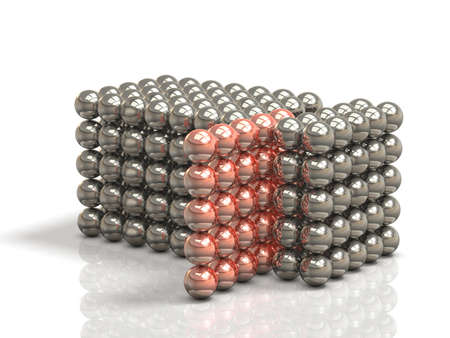 pick out: Configured tissue with ball metal.isolated, computer generated image Stock Photo