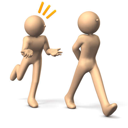 solicitation: Two people, One is talking from behind isolated