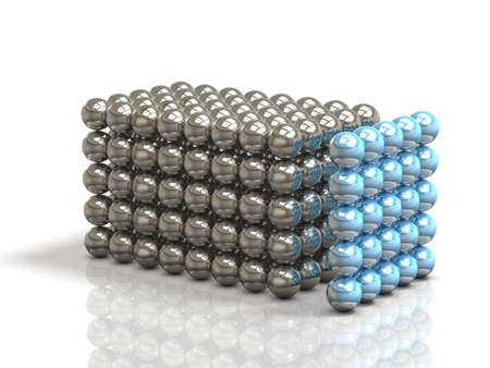 Structure configured in small balls, form a single organization.