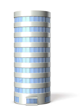 cylindrical: Architectural models of cylindrical building