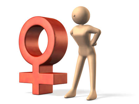 3dcg: Symbol representing the female