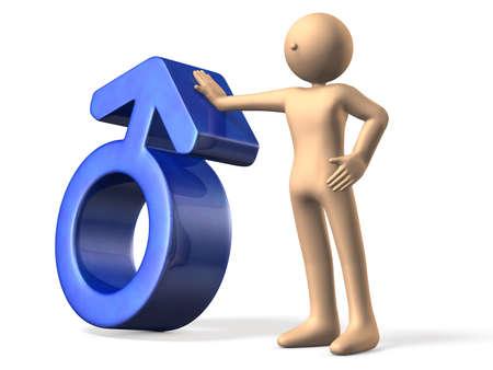 representing: Symbol representing the male Stock Photo