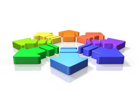 diffusion: Abstract 3DCG representing the diffusion