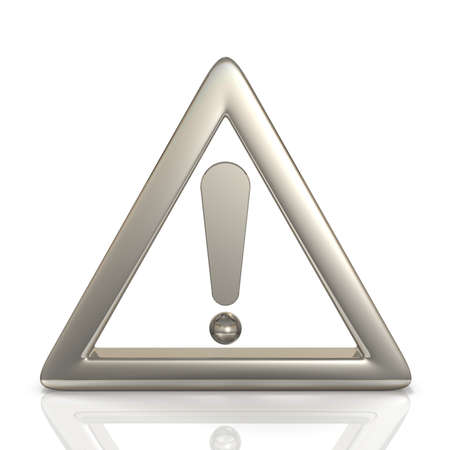 limitation: Icon representing a warning.isolated,, computer generated image