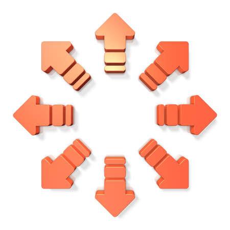 확산을 나타내는 추상 3D