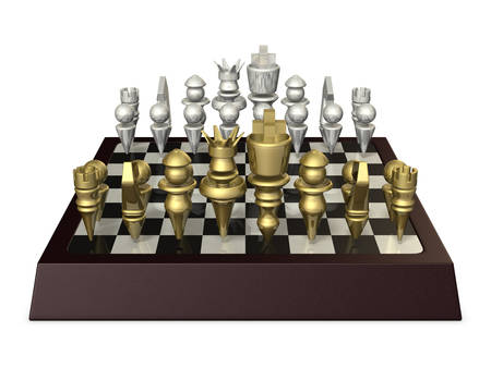 3dcg: Fictional board game, similar to chess. the isolated computer generated image