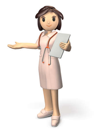 one of a kind: Kindly nurses will guide. isolated, computer generated image